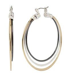 Robert Lee Morris Soho™ Three Row Wire Hoop Earrings