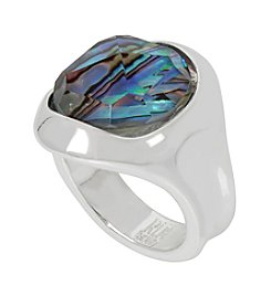 Robert Lee Morris Soho Abalone Faceted Stone Ring