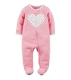 Carter's® Baby Girls' Striped Heart Footie