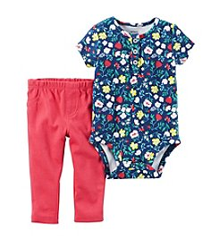 Carter's® Baby Girls' 2-Piece Floral Bodysuit And Leggings Set