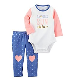 Carter's® Baby Girls' 2-Piece Love Bodysuit and Heart Leggings Set