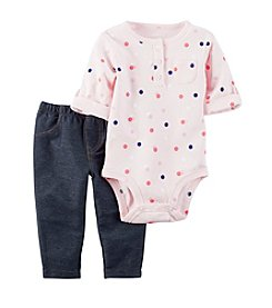 Carter's® Baby Girls' 2-Piece Dot Bodysuit And Jeggings Set