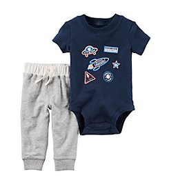 Carter's® Baby Boys' 2-Piece Space Bodysuit and Pants Set