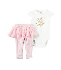 Carter's® Baby Girls' 2-Piece Little Miss Bodysuit And Tutu Pants Set