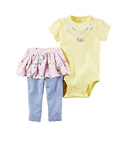 Carter's® Baby Girls' 2-Piece Necklace Bodysuit And Skeggings Set