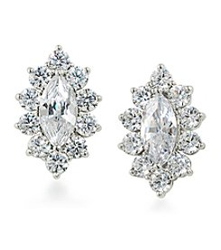 Carolee® Cubic Zirconia Clip On Earrings