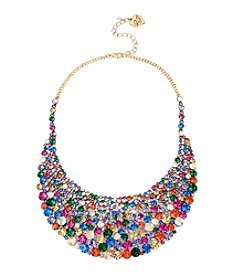 Betsey Johnson® Mixed Stone Bib Necklace