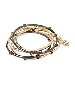 Betsey Johnson® Mixed Stone Bangle Bracelet Set