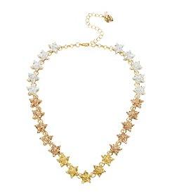 Betsey Johnson Glitter Star Collar Necklace