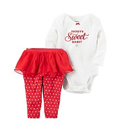 Carter's® Baby Girls' 2-Piece Daddy's Sweetheart Bodysuit And Skeggings Set
