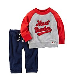 Carter's® Baby Boys' 2-Piece Heart Breaker Sweatshirt and Pants Set