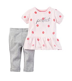 Carter's® Baby Girls' 2-Piece Perfect Peplum Sweater And Leggings Set