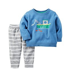 Carter's® Baby Boys' 2-Piece Tugboat Sweater and Pants Set