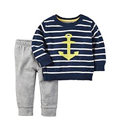 Carter's® Baby Boys' 2-Piece Anchor Sweater and Pants Set