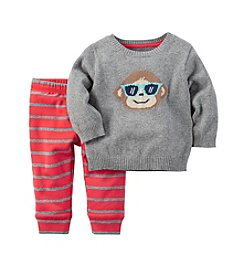 Carter's® Baby Boys' 2-Piece Monkey Sweater and Pants Set