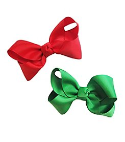 Riviera RC Girls' 2-Pack Medium Solid Bows