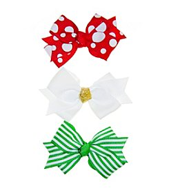 Riviera RC Girls' 3-Pack Small Patterned Bows
