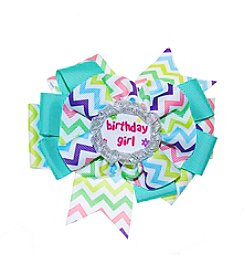 Riviera RC Girls' Chevron Birthday Girl Bow