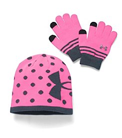 Under Armour® Girls' Beanie & Glove Combo Pack