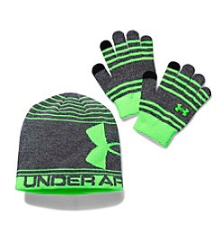 Under Armour® Boys' Beanie & Glove Combo Pack