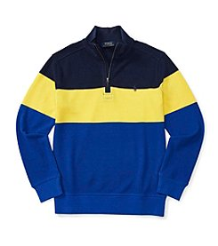 Polo Ralph Lauren® Boys' 8-20 1/4 Zip Striped Pullover