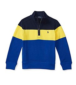 Polo Ralph Lauren® Boys' 2T-7 1/4 Zip Striped Pullover