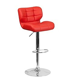 Flash Furniture Contemporary Tufted Vinyl Adjustable Height Barstool