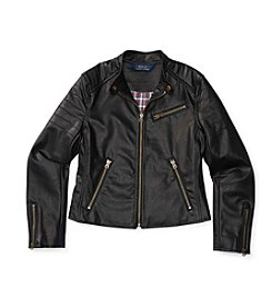 Polo Ralph Lauren® Girls' 7-16 Vegan Leather Moto Jacket