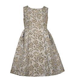 Bonnie Jean® Girls' 7-16 Brocade Fit and Flare Dress