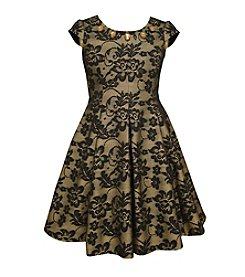 Bonnie Jean® Girls' 7-16 Jeweled Bonded Lace Dress