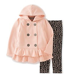 Calvin Klein Jeans Girls' 2T-6X 2-Piece Peplum Jacket and Leggings Set