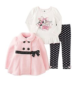 Kids Headquarters® Girls' 2T-6X 3-Piece Girly Peplum Jacket Set