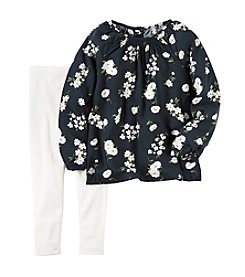 Carter's® Girls' 2T-4T 2-Piece Floral Top and Leggings Set