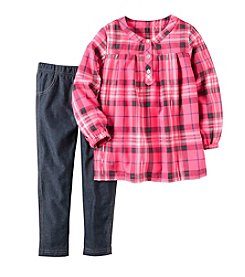 Carter's® Girls' 2T-4T 2-Piece Plaid Tunic and Jeggings Set