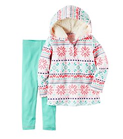 Carter's® Girls' 2T-4T 2-Piece Fairisle Hoodie and Leggings Set