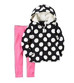 Carter's® Girls' 2T-4T 2-Piece Dot Hoodie and Leggings Set