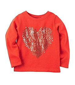 Carter's® Girls' 2T-8 Sequin Heart Tee