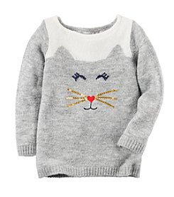 Carter's® Girls' 2T-8 Cat Sweater