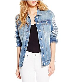 Jessica Simpson Trucker Denim Jacket