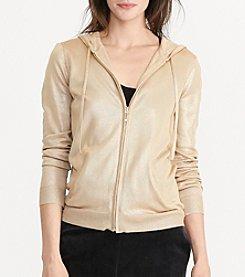 Lauren Active® Foil-Print Full Zip Hoodie