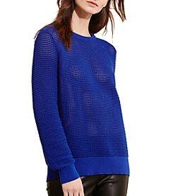 Lauren Active® Open-Knit Shoulder-Zip Sweater