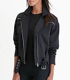 Lauren Active® Neoprene Moto Jacket