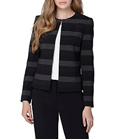 Tahari ASL® Stripe Open Jacket