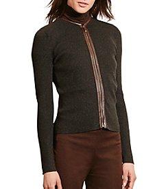 Lauren Ralph Lauren® Petites' Cotton Zip-Front Cardigan