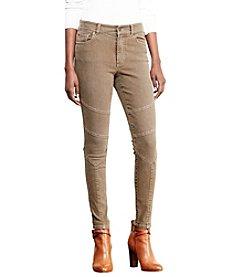 Lauren Ralph Lauren® Petites' Stretch Skinny Moto Jeans