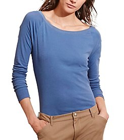 Lauren Ralph Lauren® Petites' Stretch Cotton Long-Sleeve Tee