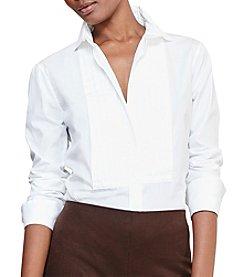Lauren Ralph Lauren® Petites' Cotton Poplin Bib Shirt