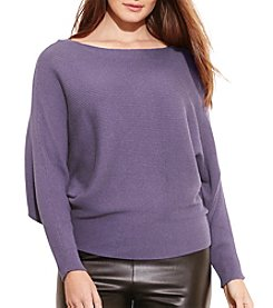 Lauren Ralph Lauren® Plus Size Dolman Cotton-Blend Sweater