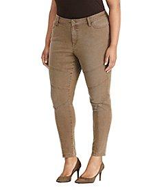 Lauren Ralph Lauren® Plus Size Stretch Skinny Moto Jeans