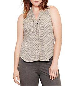 Lauren Ralph Lauren® Plus Size Foulard-Print Georgette Top